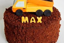 Construction party / Construction themed birthday party ideas. Dump trucks, danger zones, cones, dirt and diggers.   Make a cake, party food, diy decorations, party favors and piñatas, heaps of party gun to be found... Soon lol