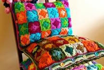 almofada linda de tricô