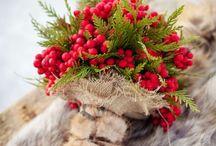 Зима букет невесты красное