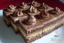csokoládépudingos  szelet