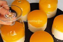 Portakal soslu irmikli muhallebi