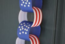 KIDS CRAFTS - Patriotic / Patriotic craft ideas for kids.  (4th of July, Memorial Day, Labor Day, Etc)