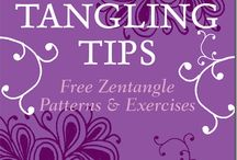 ZENTANGLE DESIGNS & PATTERNS / STEP BY STEP