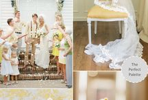 黄色イメージの結婚式