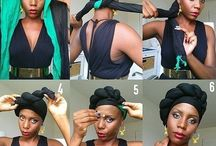 Afro headscarves & styles