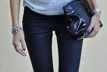 Fashion &Street style ( Black &Gray pants )