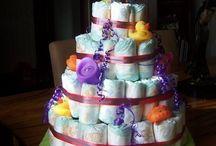 Baby shower nappy cake