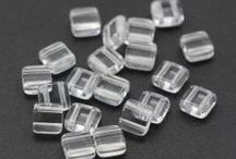 Czech Glass Beads-2-HOLE SQUARE