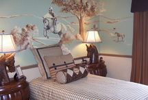 Horse bedroom / Best sheets and wall ever