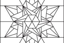 cхемы  рисунки лоскут. шитья