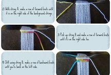 Friendship bracelets. I miss making these at camp.
