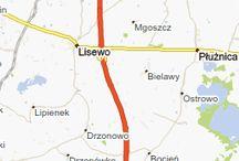 Pożar na drodze w Lisewie