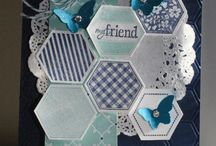 "Happy Hexagon / because it has a coordinating PUNCH... of course I have the ""Six Sided Sampler"" stamp set!"