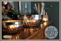 Mercury glass faux