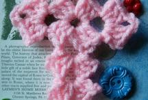 crocheted book mark