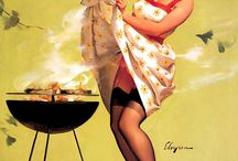 RETRO GIRLS GRILLING / Vintage ads that show Girls Can Grill
