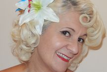Retro vintage 1950's pinup hair flowers / Handmade retro rock'n'roll pinup hair and other fashion accessories