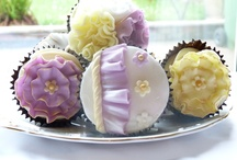 Ruffled and floral cupcakes