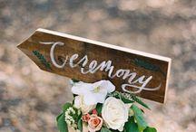 S I G N A G E / Wedding signs