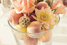 Peach/Coral wedding flowers