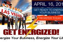 GET ENERGIZED Vegas 2016! / Get Energized Seminars share the secrets to truly gaining momentum in life and in your business through simply and powerful habits. Goals are great, but if you lack the energy to carry them out they become stagnant.  At Get Energized learn tools and habits for gaining the sustainable ENERGY for achieving your goals and dreams.