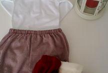 Para meninos (clothes for boy and babysuit) / Uma linha personalizada de calção e bodys para meninos (dos 3 aos 24 meses)