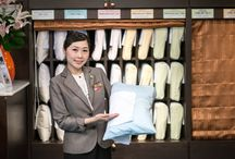 Selectable pillow for a good night's sleep at Lohas Suites Sukhumvit, Banngkok. / Pillow selection for your good sleep. In addition to a harmony of elements that will help improve body condition, each pillow is specifically designed to meet an individual's taste and preference in order to guarantee your good and sound sleep.