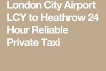 Taxi Fare from London City Airport to Heathrow Airport