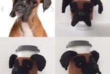 Knitting pattern boxer dog