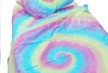 pastel tie dye bedding