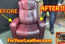 Aniline Leather Chair Restoration