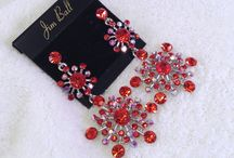 Complete The Look - Red Rhinestone & Crystal Jewelry