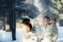 Зима семья