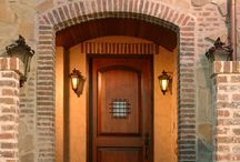 """Exterior Doors / Exterior doors (sometimes called """"Entry"""" doors or """"Front"""" doors) welcome visitors to the home. Exterior doors are often more decorative and ornate, have more durable weather resistant pre-finishes, and are generally stronger and more secure than interior wood doors."""