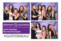 Alzheimer's Association Junior Committee of NYC #glitztoendalz / photo booth nyc