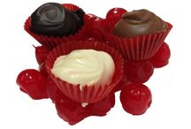 Hand-Dipped Chocolates / Our chocolates are hand-dipped in our specially blended chocolate.