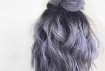 Dark grey hair colour