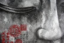 ART buddha paintings / colorful and beautiful
