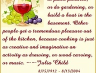 Julia Child!♥ / Julia Child. The best chef on the entire planet! She made women and men fearless of the kitchen.  / by Lauren Fugate