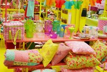 Colourful Displays / Collecting ideas here to make my craft show displays better!