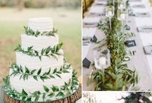 Green White Wedding