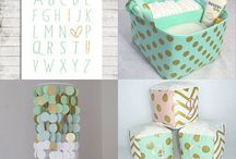 Baby girl room / Mint pink