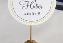 Namecards/tabledecoration/wedding