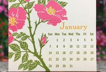 2018 Letterpress & Arts & Crafts Calendars / Arts and Crafts, and Letterpress by Yoshiko Yamamoto and Rigel Stuhmiller