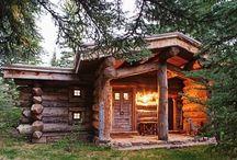 Alaska Evleri Kütük Evler / DOĞADA YAŞAM