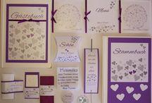"""Hochzeits-Set """"Herz-Baum"""" / Hochzeits-Set """"Herz-Baum"""" Erhältlich in 19 verschiedenen Farben :D Näheres und Kontakt unter www.creative-for.you.at"""