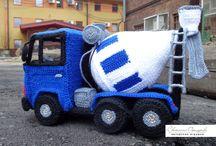 crochet car, vespa