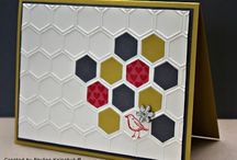 SU hexagon embossing folder