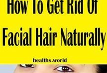 Natural remedy remove facial hair
