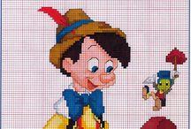 Haft krzyżykowy - Pinokio